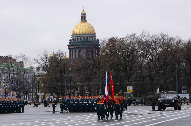 Генеральная репетиция парада Победы в Петербурге