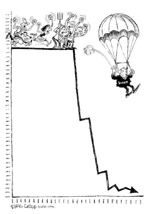 «Золотые парашюты» для прыжка с табуретки